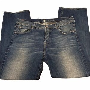 7 For All Man Kind  Blue Jeans Relaxed Fit Size 36